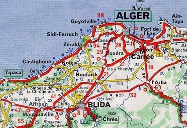 Carte Algerie Blida.Gla2